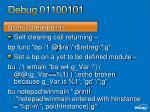 debug 0110010112