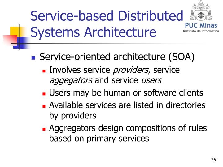Service-based Distributed Systems Architecture