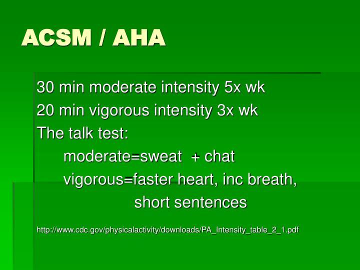 ACSM / AHA