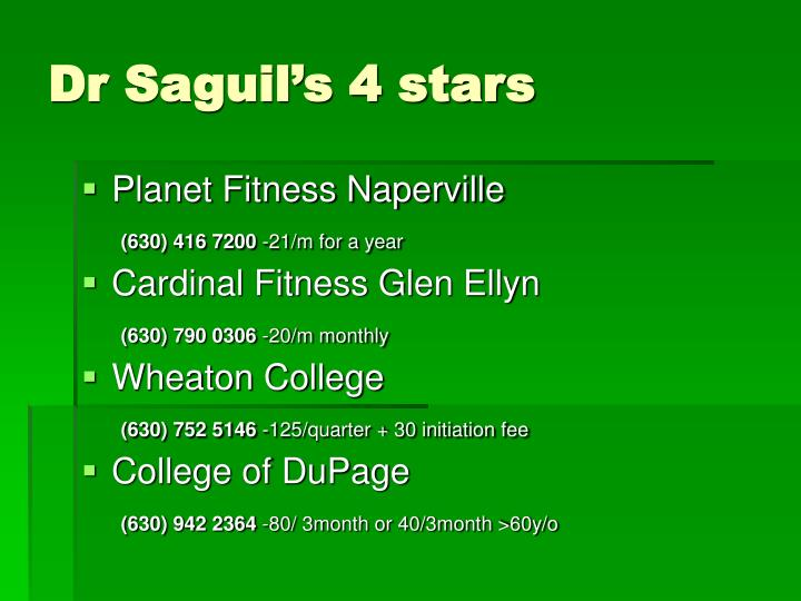 Dr Saguil's 4 stars