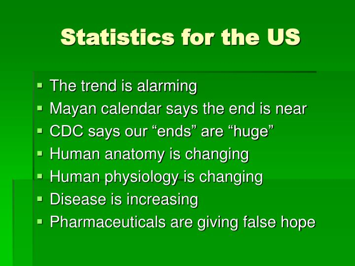 Statistics for the US