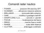comandi radar nautico