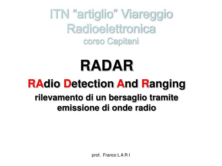 itn artiglio viareggio radioelettronica corso capitani n.