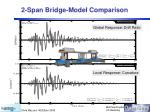 2 span bridge model comparison