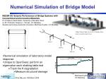 numerical simulation of bridge model