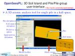 openseespl 3d soil island and pile pile group user interface