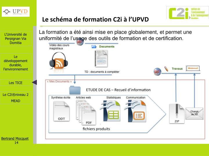 Le schéma de formation C2i à l'UPVD
