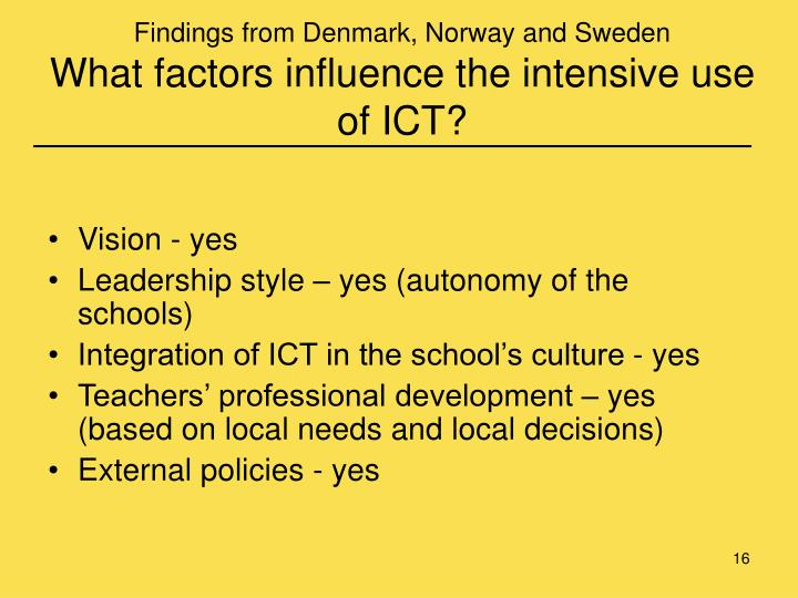 Findings from Denmark, Norway and Sweden