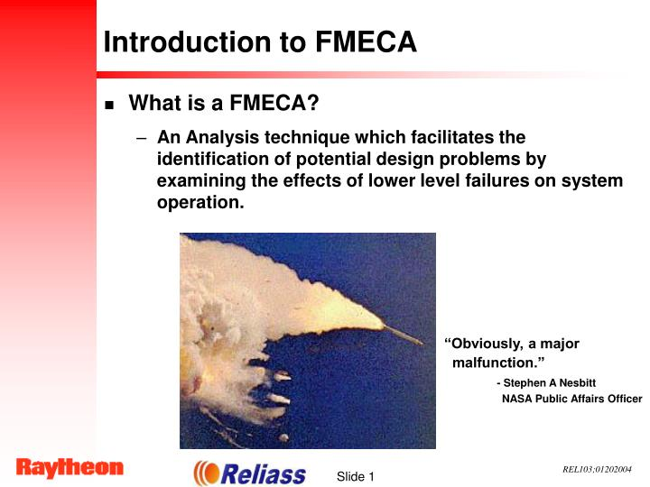 introduction to fmeca n.