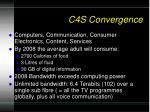c4s convergence
