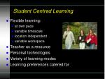 student centred learning