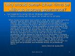 why should owner driven firms be willing to improve governance1
