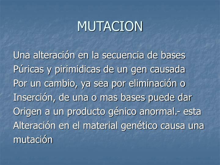 Mutacion1