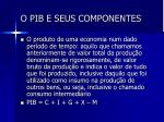 o pib e seus componentes