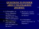 questions to ponder about telemakhos journey