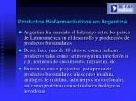 productos biofarmac uticos en argentina
