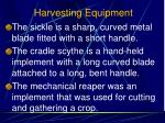 harvesting equipment1