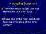 harvesting equipment2