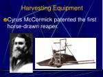 harvesting equipment4