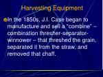 harvesting equipment5