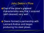 john deere s plow