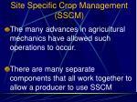 site specific crop management sscm1