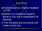 the plow