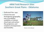 arm field research sites southern great plains oklahoma