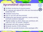 agrometshell objectives