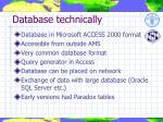 database technically