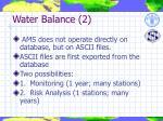water balance 2