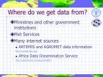 where do we get data from