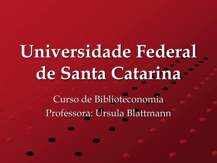 universidade federal de santa catarina n.