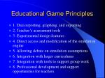 educational game principles