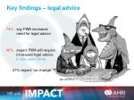 key findings legal advice