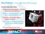 key findings most significant fwa changes