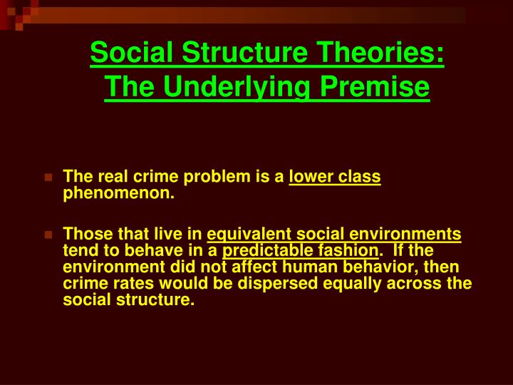 what is social structure theory in criminology