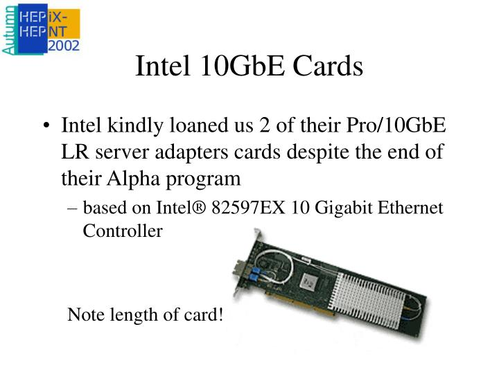 Intel 10GbE Cards