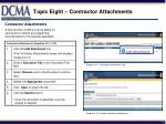 topic eight contractor attachments