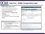 topic five dcma transportation input