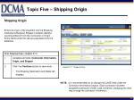 topic five shipping origin