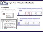 topic four using the cubes toolbar