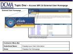 topic one access sir 2 0 external user homepage