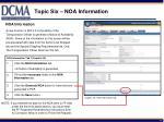 topic six noa information