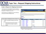 topic two request shipping instructions