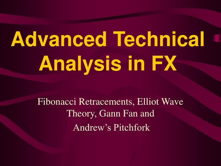 advanced technical analysis in fx n.