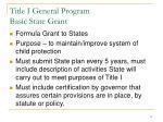 title i general program basic state grant