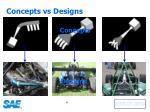 concepts vs designs