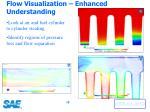 flow visualization enhanced understanding