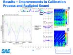 results improvements in calibration process and radiated sound